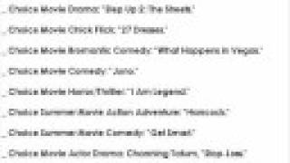 List of Teen Choice Awards 2008 Winners! (only in 30 seconds!)