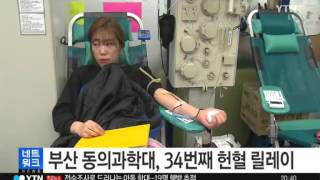 YTN24뉴스 동의과학대 헌혈릴레이