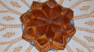 Булочка в форме звезды.Моя идея,Meine Idee,My idea.Flower Bread.
