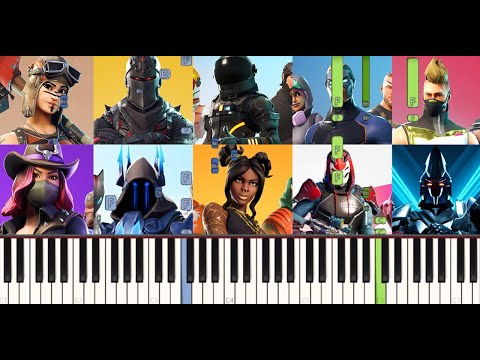 Fortnite Chapter 1 Piano Medley (Synthesia)