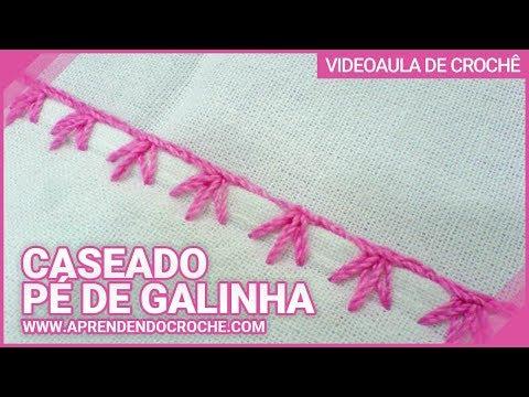 Aprendendo Caseado Pé de Galinha em croche - Aprendendo Crochê ...