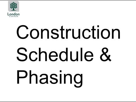 Project Update Meeting - Presentation Five: Information about Construction Phasing and Scheduling