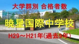 暁星国際中学校 大学合格者数 H29~H21年【グラフでわかる】