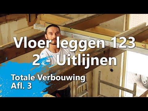 Ondervloer leggen in 3 stappen - Stap 2 - Uitlijnen en voorbereiden (Totale Verbouwing Afl. 3)