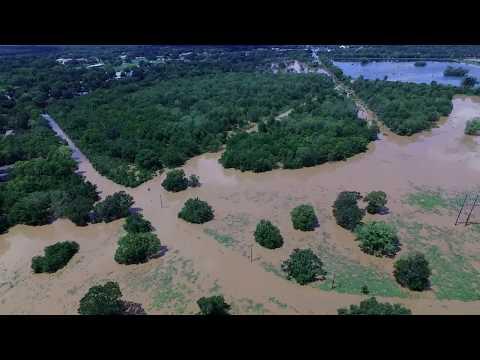 Brazos River flooding in Brazoria Tx...drone footage *