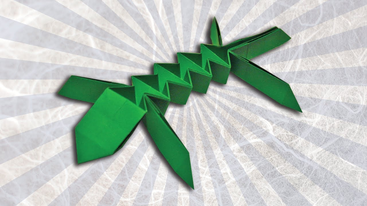 how to make a origami lizard easy