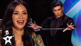 Funny Magician Tickles Nicole Scherzinger on Australia's Got Talent 2019 | Magicians Got Talent