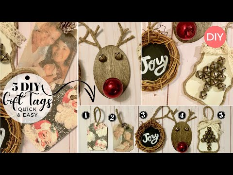 5 Easy DIY Gift Tags That Will Make Your Gifts Stand OUT 🎁  | Wooden Gift Tags | Ashleigh Lauren
