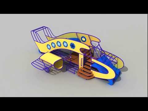 """Очень интересный проект детской площадки """"АЭРОПОРТ""""из YouTube · Длительность: 3 мин18 с"""