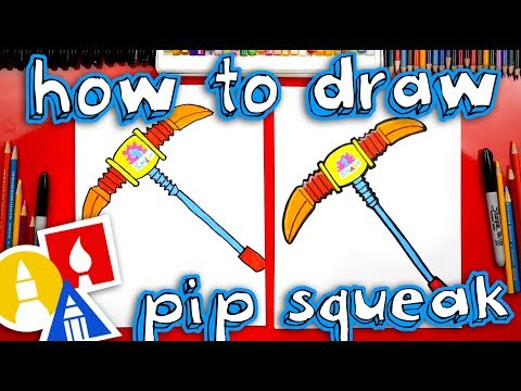 How To Draw Pip Squeak Pickaxe From Fortnite Safe Videos For Kids