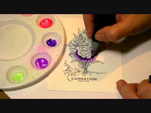 Coloring a Carnation with Spectrum Noir Markers
