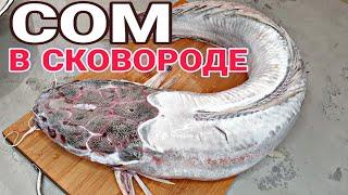 Как сочно и быстро пожарить Рыбу Сом на сковороде