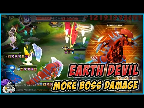 More damage in Bosses - Earth Devil - Pokeland Legends