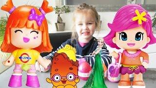 Oeufs de pâques Pinypon, Shopkins, Disney princesses Reine des neiges et Belle (Unboxing)