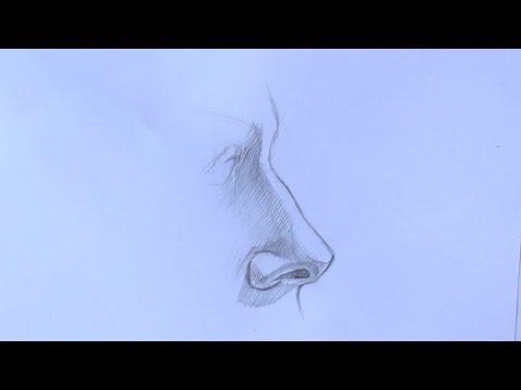 Уроки рисования. Как нарисовать нос карандашом. Часть 2