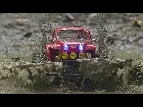NEW! Tamiya Monster Beetle 2015 on a Muddy RIDE! Pure Action!