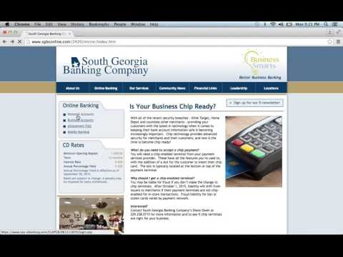 South Georgia Banking Company Online Banking Login Instructions