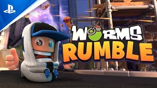Worms Rumble - PS+ Reveal Trailer | PS5, PS4