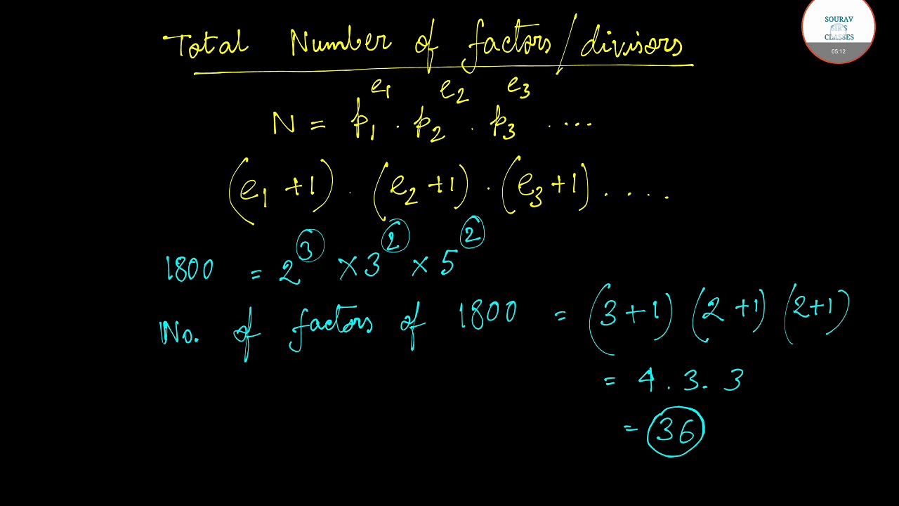 Various Formulas of number theory chapter explained important for Pre-Rmo,  Rmo & INMO Exam Part Two