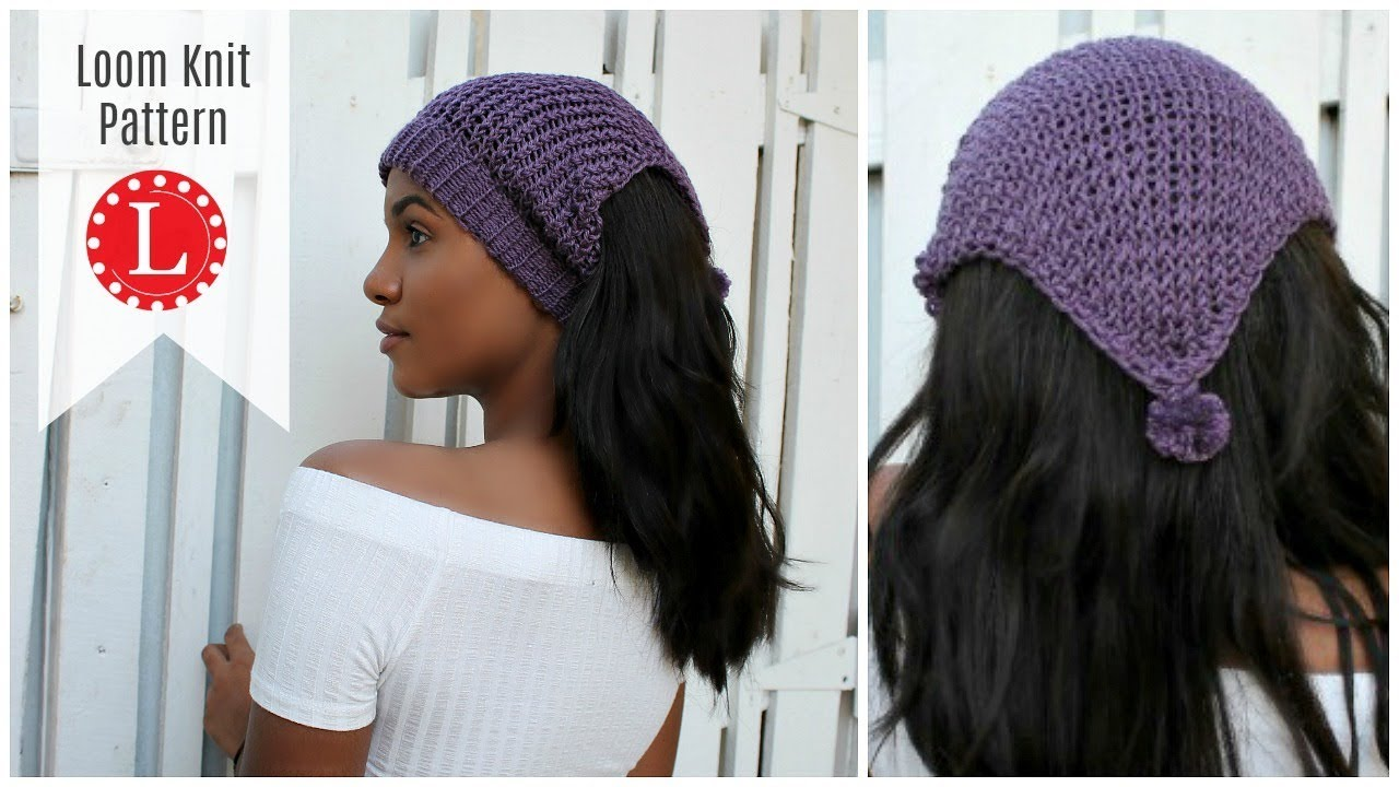 LOOM KNITTING Ear warmer Pattern - Headband Hat on a round loom ...