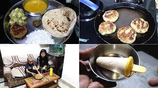 Indian Dinner Routine    Gwar Ki phali ke Kabab    Gwar Phali chokha    Special masoor dal    2019.