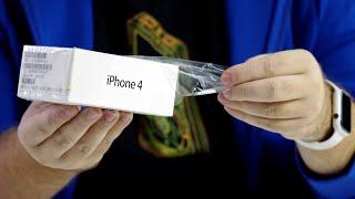 Распаковка iPhone 4 - в ожидании iPhone 12. Дизайн длиною в 10 лет...