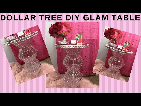 DOLLAR TREE DIY GLAM TABLE I HOME DECOR