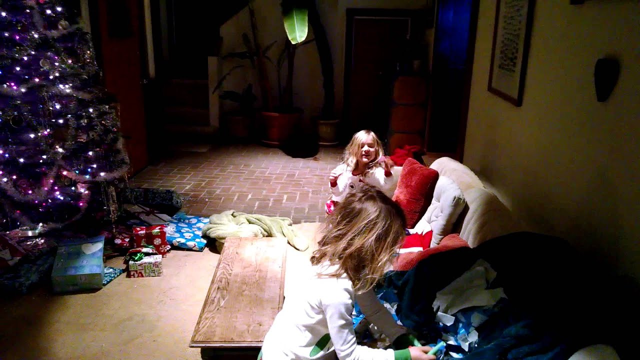 Anna and Jessica Christmas stockings 6am :) - YouTube