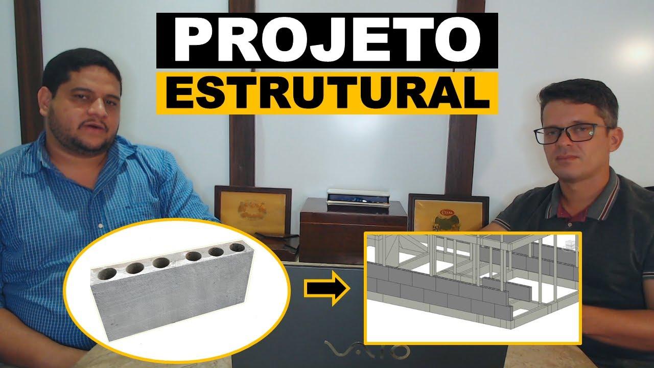 Projeto estrutural com blocos de concreto celular.
