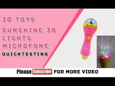 3D Lights Handheld Mike Toy, Musical  QuickTest & Unboxing in Hindi