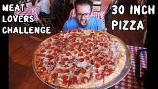 """30"""" Giant Meat Pizza Challenge at Cataldo's in Bakersfield w/ """"Raina Is Crazy"""" 