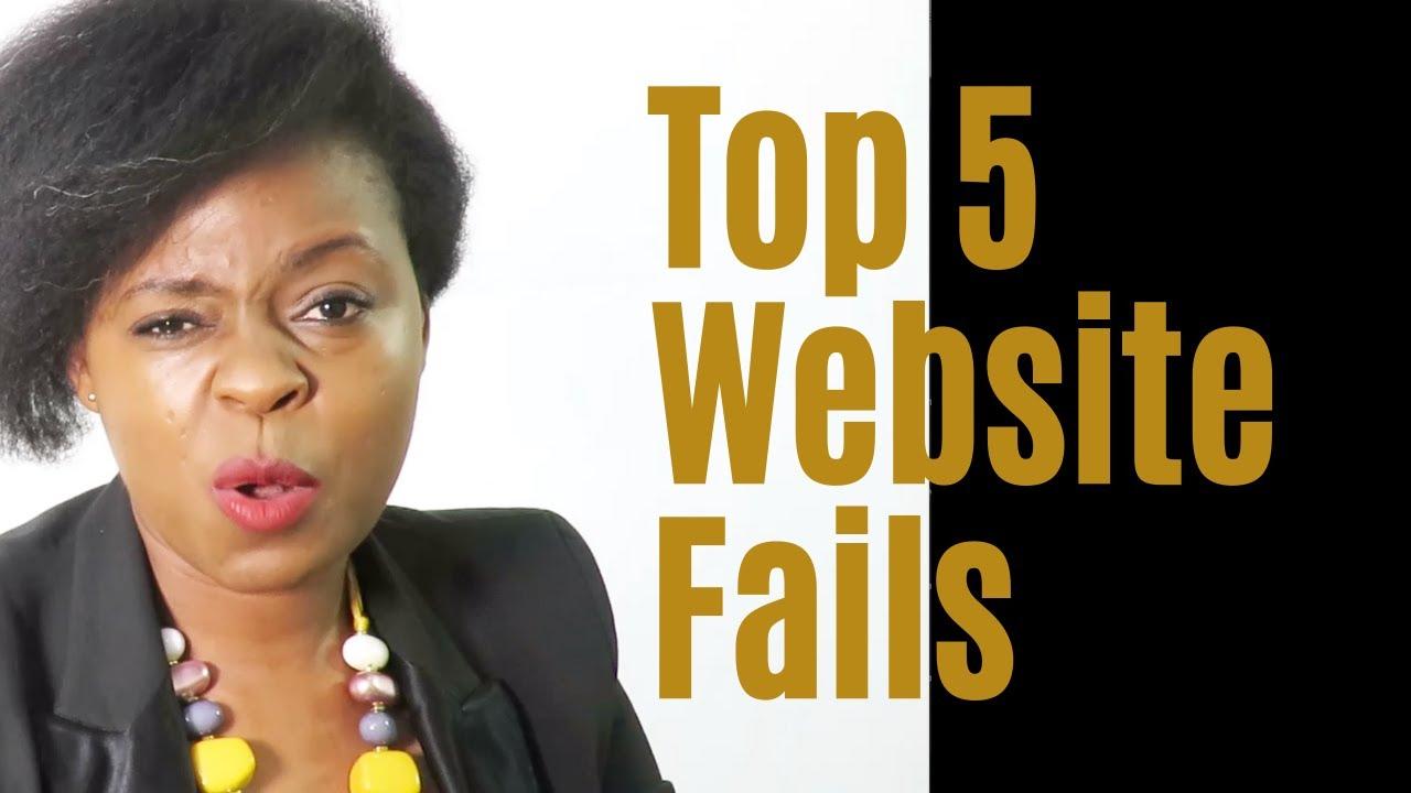 Top 5 Website Fails to avoid!