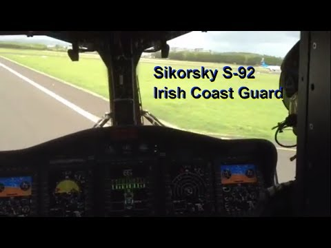 Sikorsky S-92: INSIDE COCKPIT VIEW with Irish Coast Guard!!!