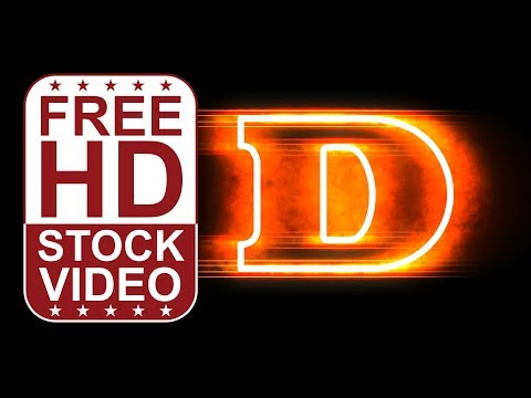FREE HD video backgrounds – animated letter W with fire and