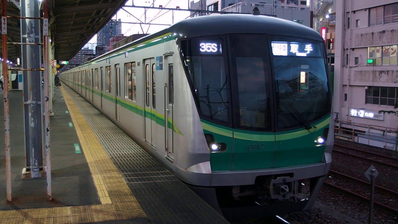 千代田線16000系16117F 各駅停車取手行き 金町駅発車