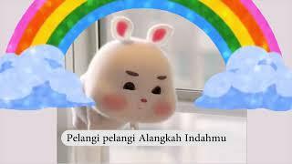 Lagu Pelangi Pelangi | Lagu Anak Terpopuler | Super Cute Fat Rabbit