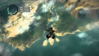 Repeat youtube video 2203 meter Base Jump in Just Cause 2