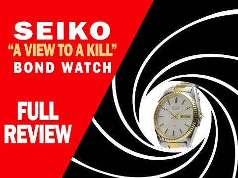 Seiko - A View To A Kill - Bond Watch - FULL REVIEW - I Review Crap!