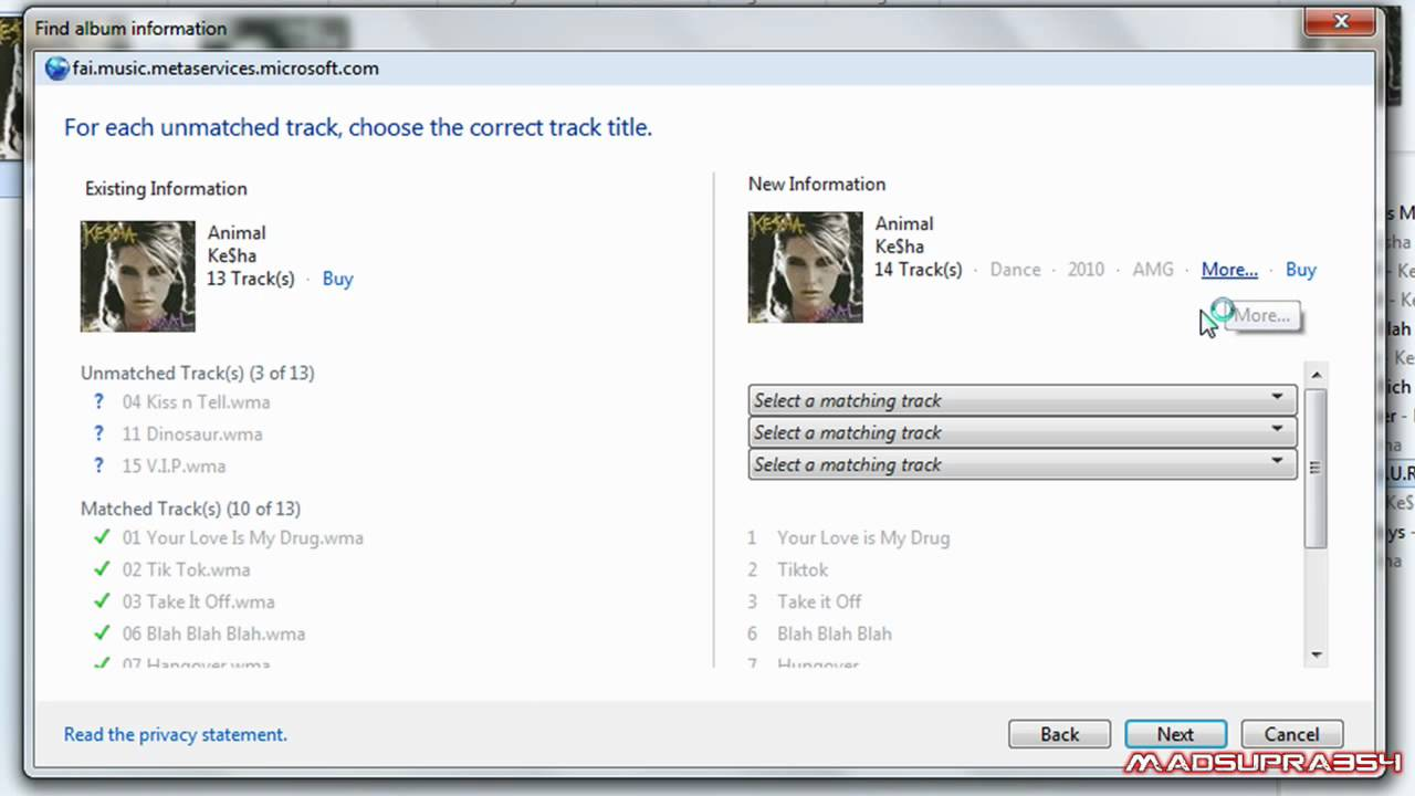 How to get album information from the Web - Mp3 organizer