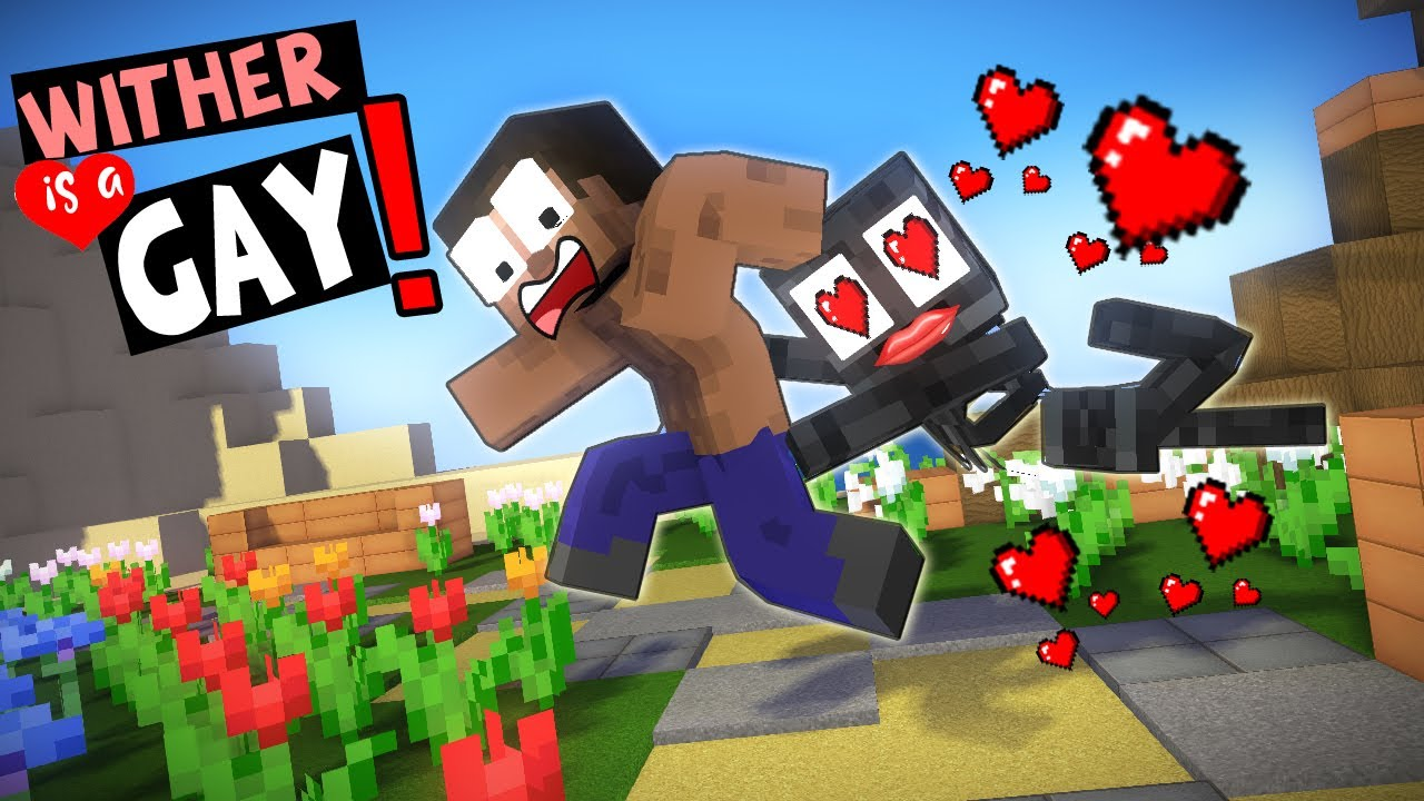 Wither Is Gay Monster School Don T Know How To Stop Wither Funny Minecraft Animation Youtube