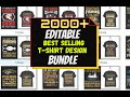 Send You 1000 PSD Editable Premium Tshirt Design With Mockup