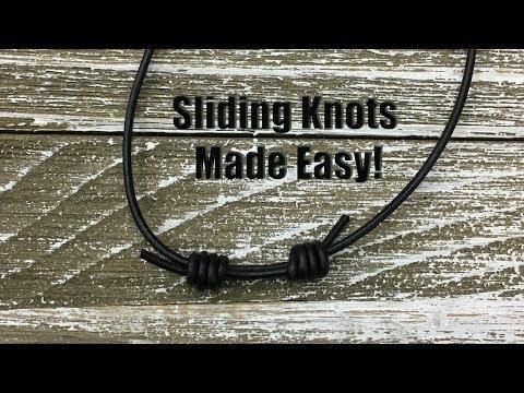 Sliding Knots Made Easy! Step by Step Tutorial