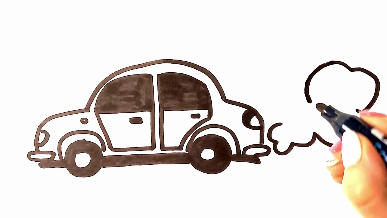Simple Car Drawing How To Draw A Car For Small Children