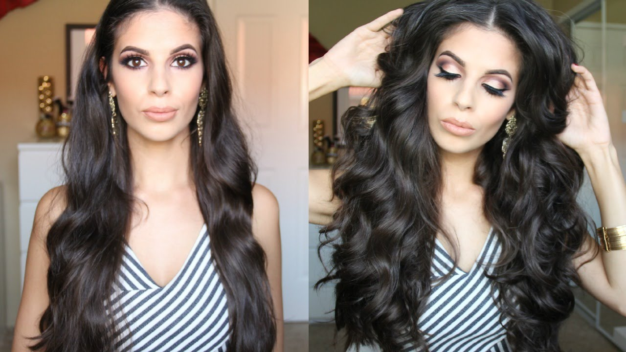 Big Glamorous Curls Holiday Hair Youtube