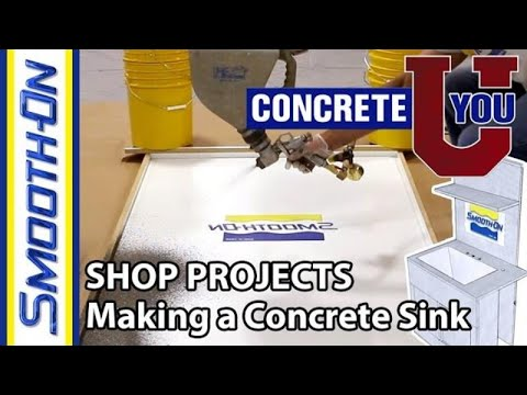 Shop Projects - How To Make a GFRC Concrete Utility Sink - YouTube