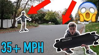 FASTEST ELECTRIC SKATEBOARD VS HILL! *SCARY*
