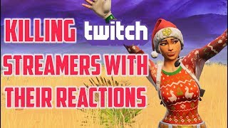 KILLING BIG AND SMALL TWITCH STREAMERS with THEIR REACTIONS! EP 4 - Fortnite Battle Royale