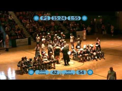 Santa Cruz Derby Girls Live Broadcast - Groms Vs. San Fernando Valley