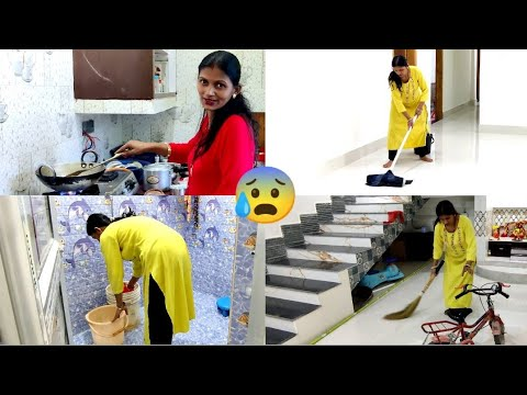 🌅House wife Morning Routine बिना मेड सुबह 5 बजे उठकर घर का सारा काम करती हूँ😢  @Asha aur Anku