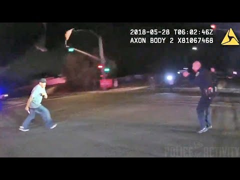 Bodycam Footage of Officers Shooting Suspect Armed With Knife in San Diego, California